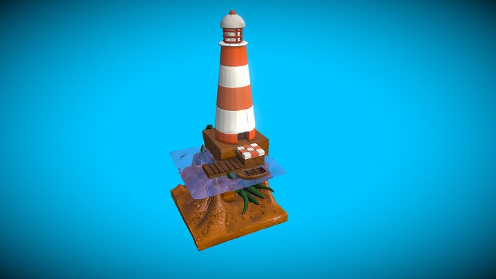 Lighthouse based on drawing by Rob Turpin 3D Model