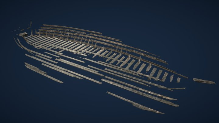 Shipwreck from Czersk - animation 3D Model
