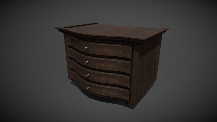 Victorian Chest of Drawer 3D Model