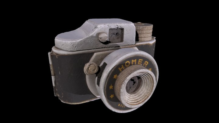 Homer, sub mini camera, 1950's 3D Model
