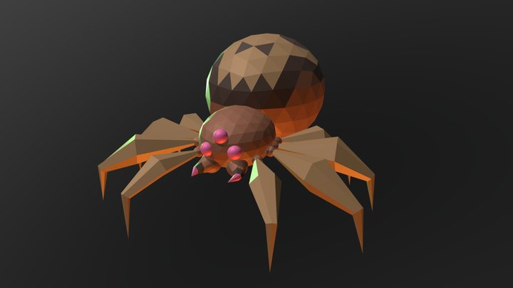 Low-Poly Spider 3D Model
