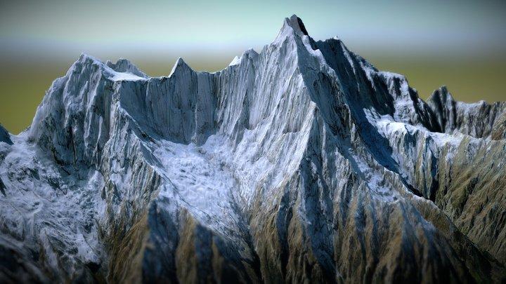Annapurna II 3D Model