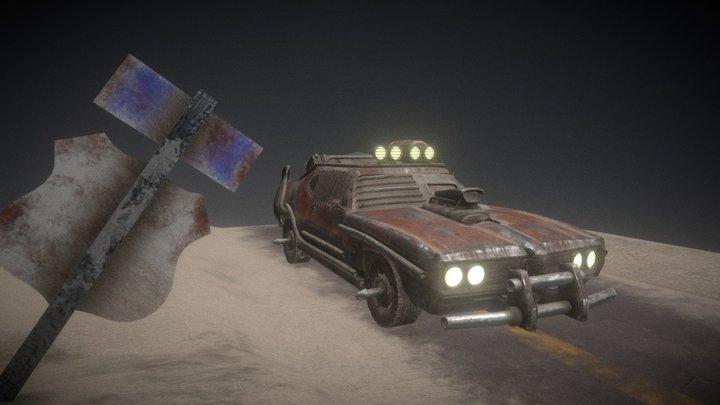 Pontiac GTO 1969 Mad Max Inspired 3D Model