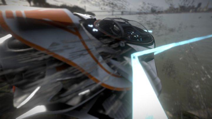 Spaceship - Arrow 3D Model