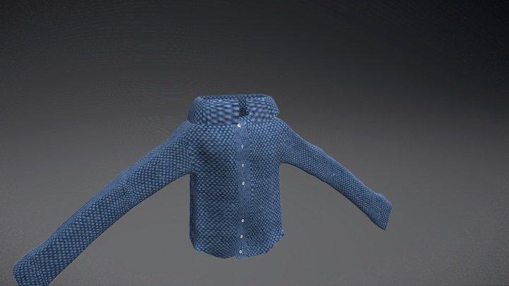 Mens Shirt  Final Version 3D Model