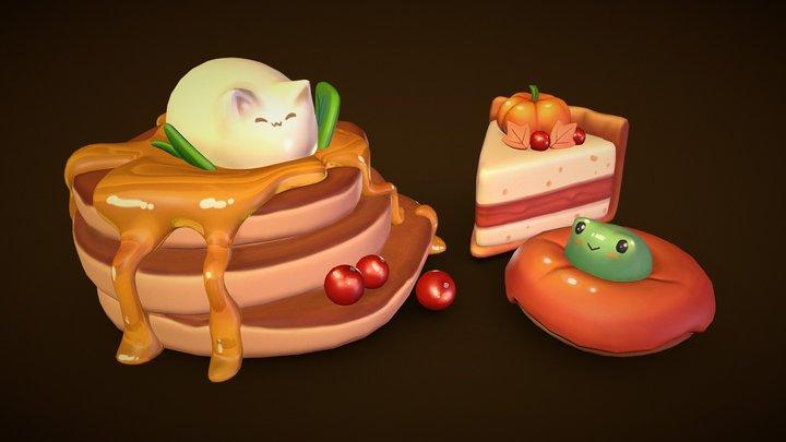 Autumn Desserts 3D Model