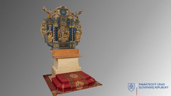 Gočovo - oltár 3D Model