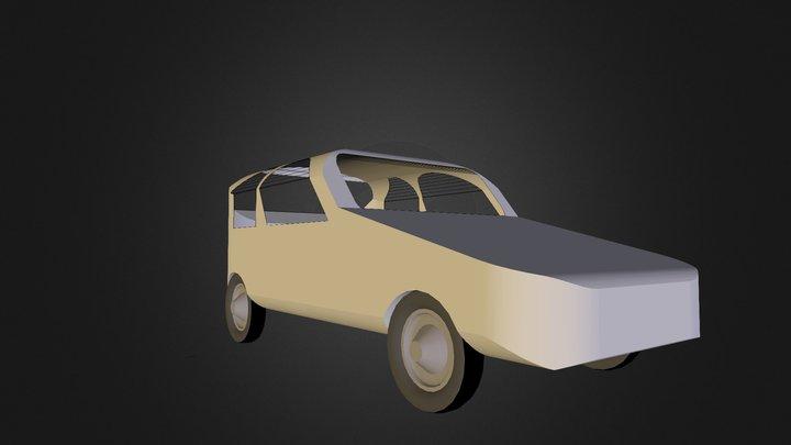 Coche Aida y Marta 3D Model