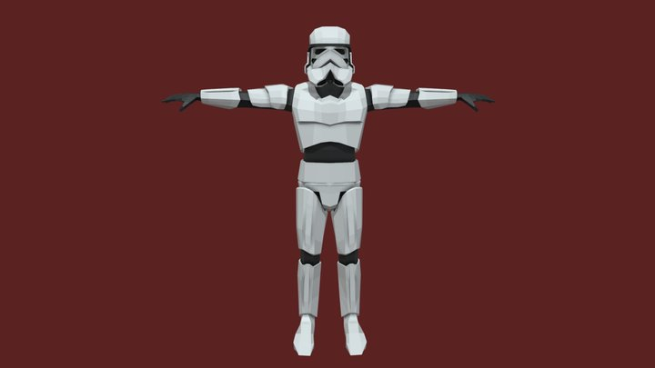 Star Wars - Low Poly Stormtrooper 3D Model