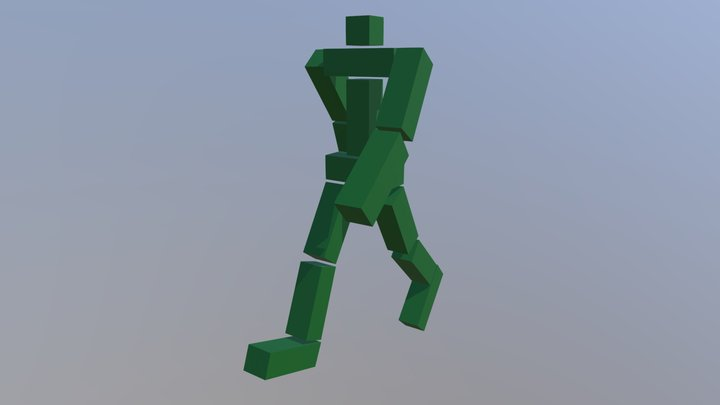 Кубоид шагает правая нога 3D Model