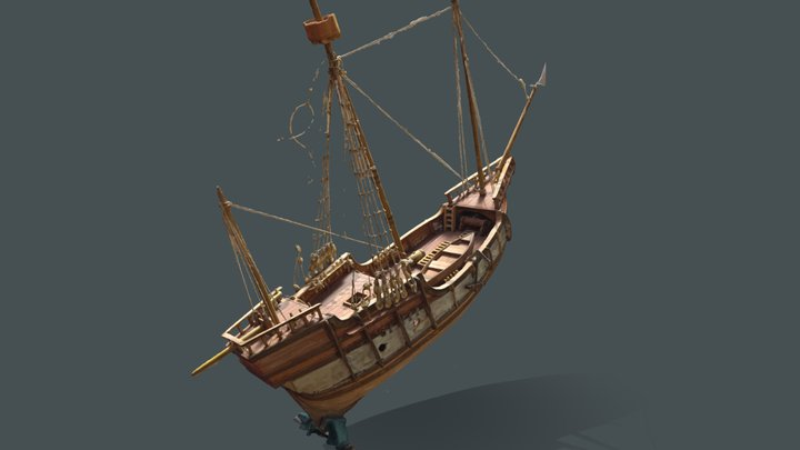 Wooden scale model of the ship #RCToyChallenge 3D Model