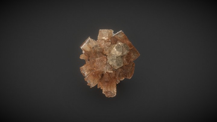Prismatic aragonite cluster 3D Model