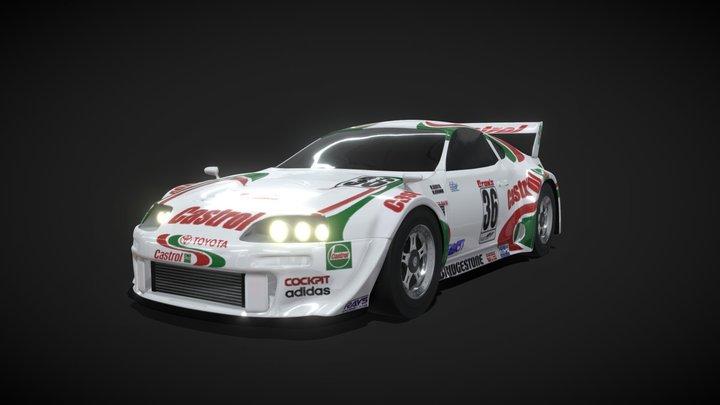 Toyota Supra Castrol JGTC 1997 3D Model