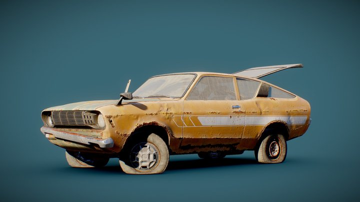 Old Coupe 2 3D Model