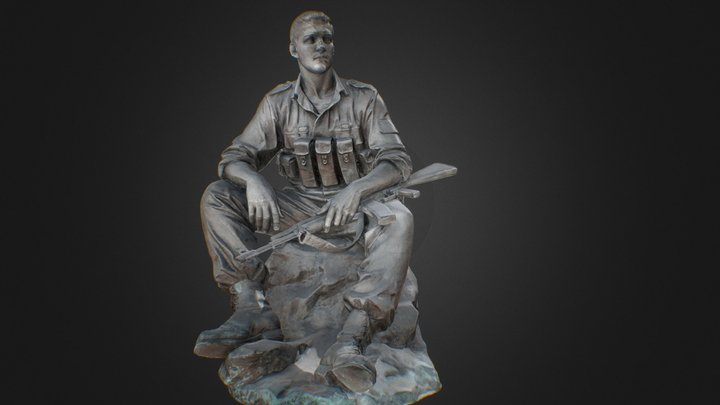 the obelisk of the Russian soldier 3D Model