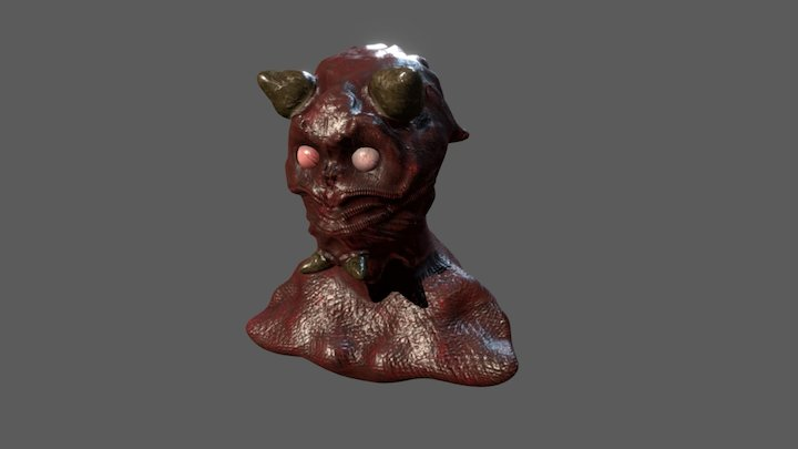 Demon Bust 3D Model