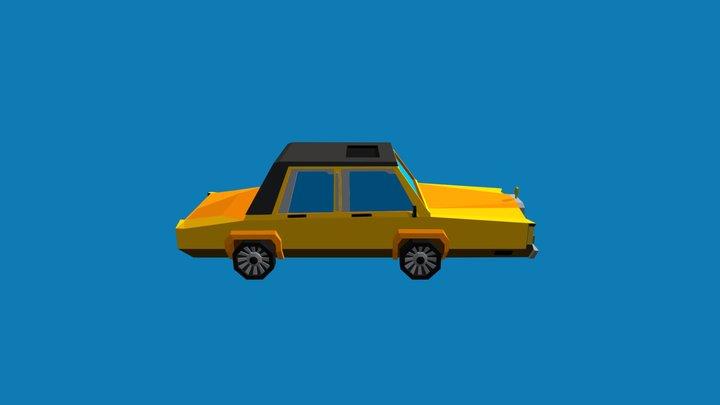 Low poly Yellow Linkoln 3D Model