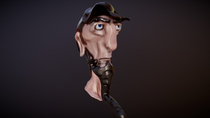 Sketch Cartoon 3D Model