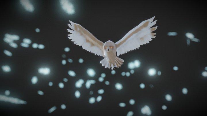 #3December - Snowy Owl 3D Model