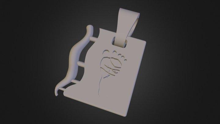 Pendentif Pied 3D Model