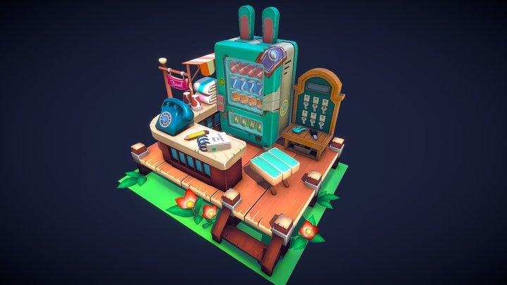 Bunny Store 3D Model