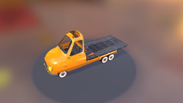 PickUp Towing 3D Model