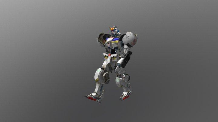 Gundam Barbatos Frame Walk 3D Model