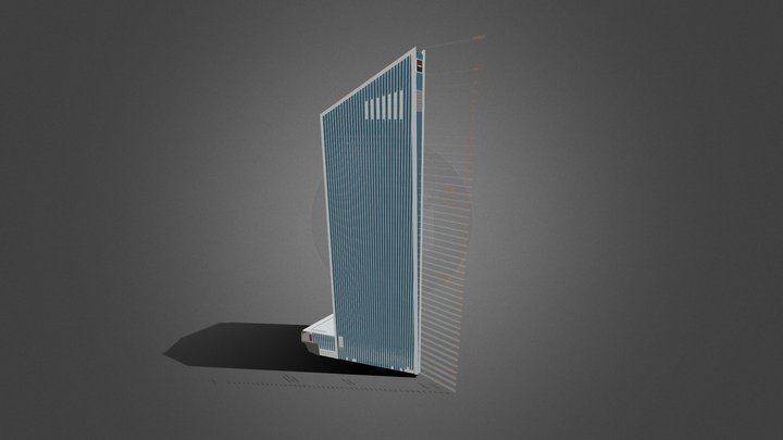 Tour Granite - La Défense Paris 3D Model