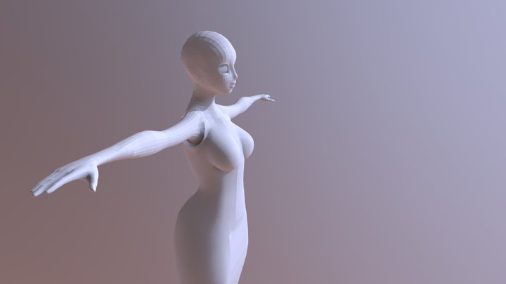 Low_Poly_No_Hair 3D Model