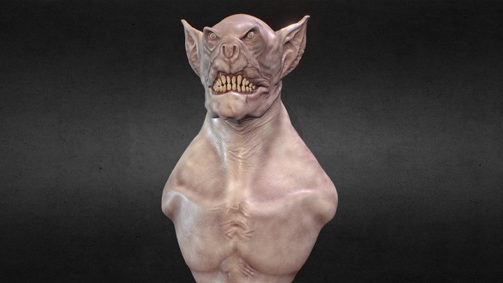 Goblin Orc 3D Model