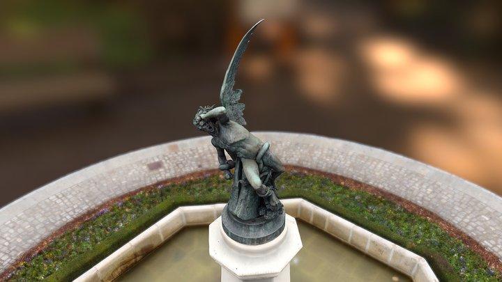 Fountain of the Fallen Angel, Madrid 3D Model