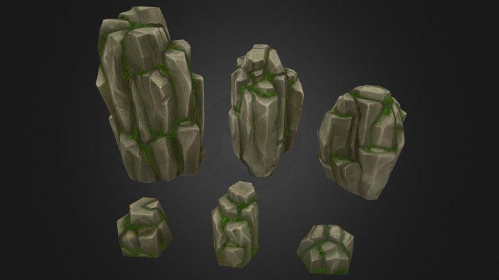 Rock Formation Pack 4 3D Model