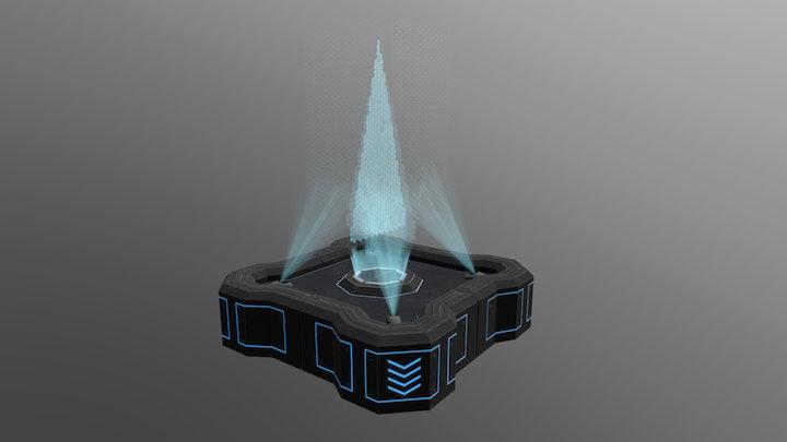 Sci-fi parterre 3D Model