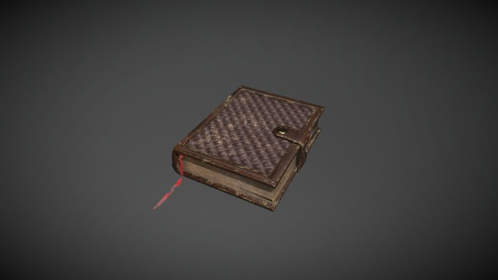 Leather Book 3D Model