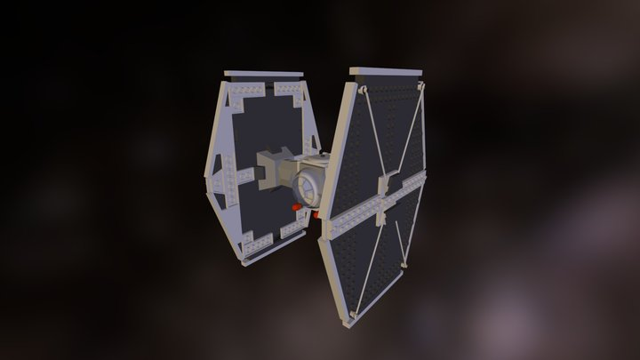 TIE Fighter Lego 3D Model