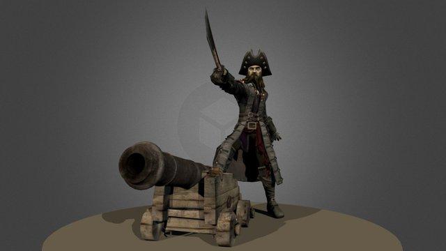 Pirate Black Beard 3D Model