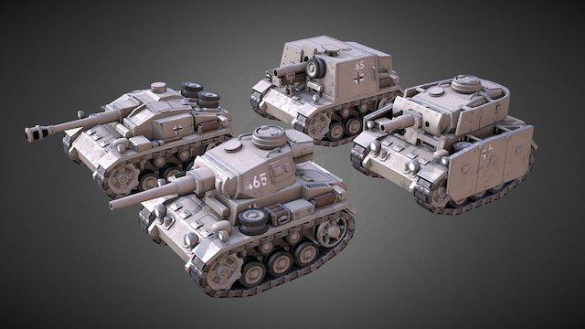Mini Panzers 3D Model