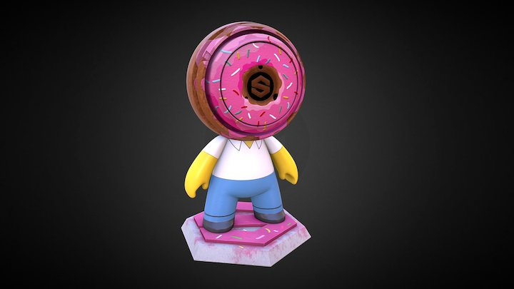 Meet MAT: Homer Simpson ME (#MeetMAT17 Edition) 3D Model