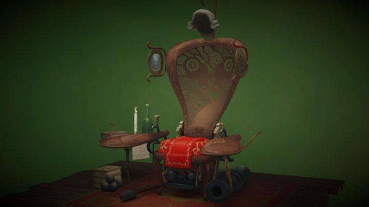Cannon Chair 3D Model