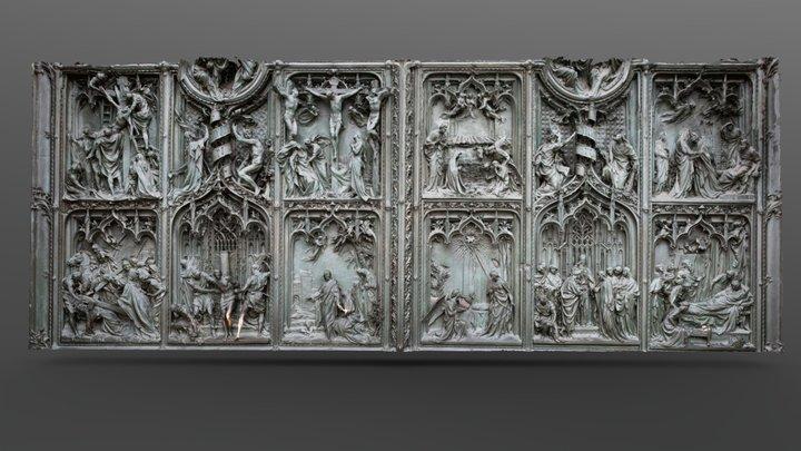 Part of the front door of Duomo Milano 3D Model