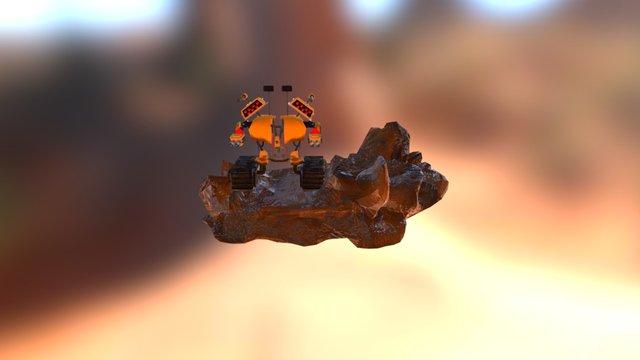 Mecha Con Base 3D Model