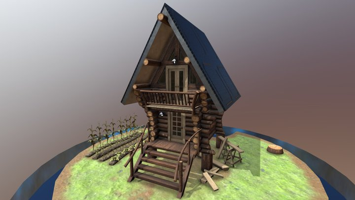 Shelter In TinyCabin 3D Model