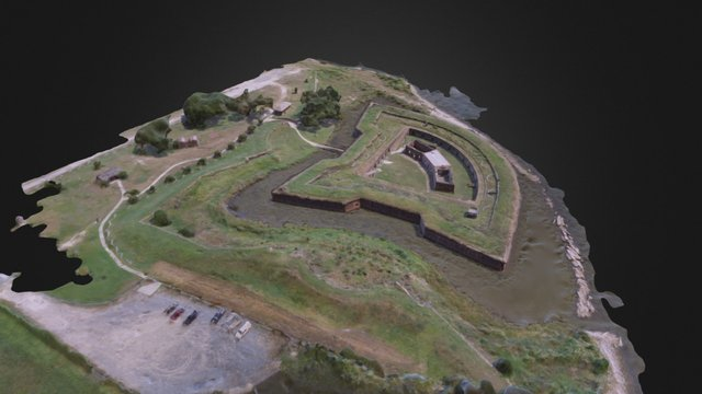 Fort Pike (New Orleans, Louisiana) 3D Model