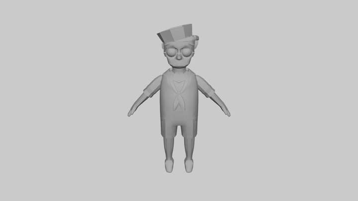 The Simpsons Game (2007) - Smithers Sailor 3D Model