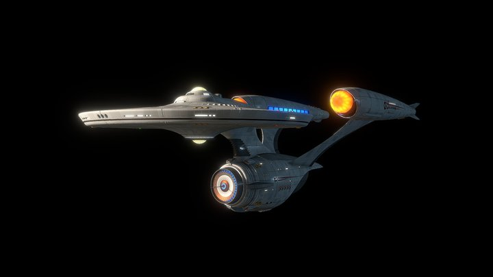 U.S.S. Enterprise (ST Fan Design) 3D Model