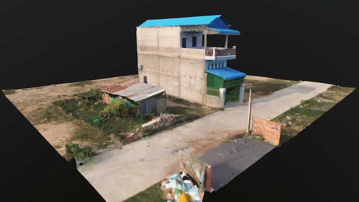 """Cambodian house, the """"Chinese bloc"""" 3D Model"""
