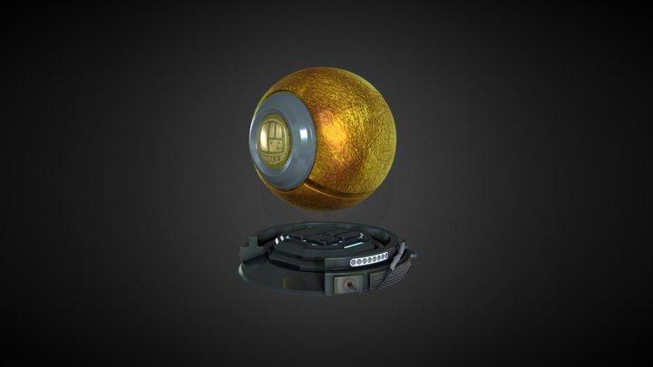 Gold Paint Test 3D Model