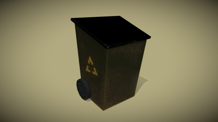 Dusty Bin 3D Model