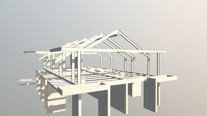 ESTRUCTURA METÁLICA AMPLIACIÓN CASA - SUBACHOQUE 3D Model