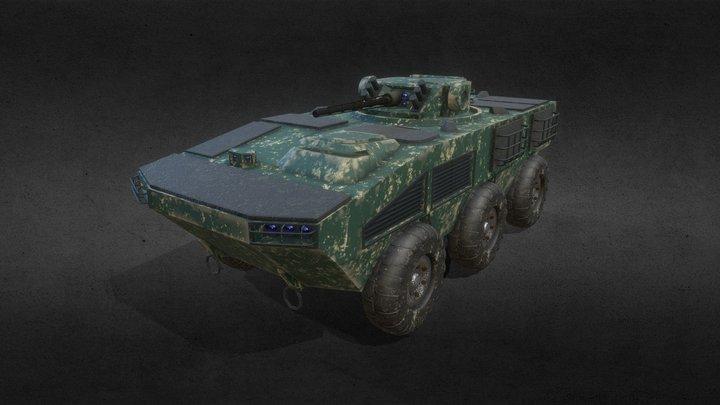 "Ukrainian APC Vehicle BTR ""Otaman"" 3D Model"